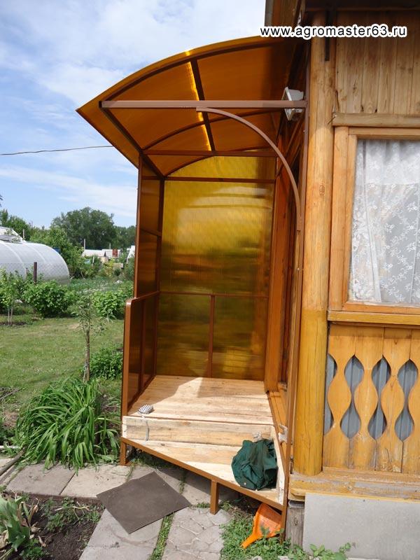 Крылечко к дому своими руками из поликарбоната